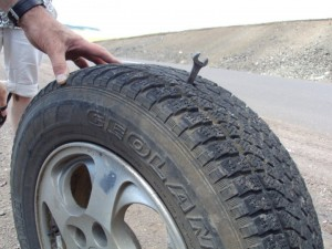 Wrench in tire